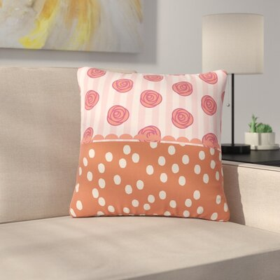 Pellerina Design Mismatch Bohemain Floral Outdoor Throw Pillow Size: 16 H x 16 W x 5 D