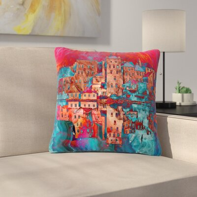 Suzanne Carter Marbled Skyline Outdoor Throw Pillow Size: 16 H x 16 W x 5 D