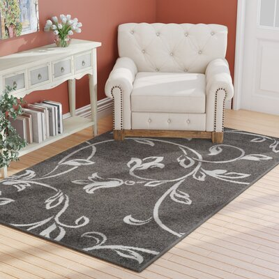 Breese Vine Black Area Rug Rug Size: Rectangle 5 x 8
