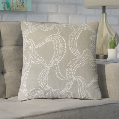 Nuzzo Graphic Linen Throw Pillow Color: Pool