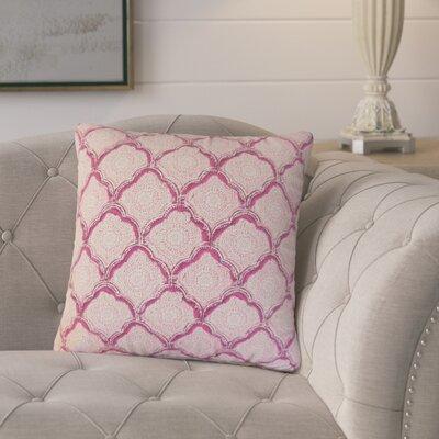 Mateus Geometric Cotton Throw Pillow Color: Pink