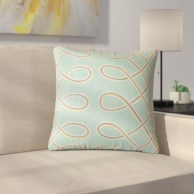 Quinto Geometric Cotton Throw Pillow Color: Blue