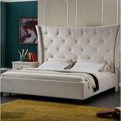 Framingham Upholstered Bed Frame Size: Queen