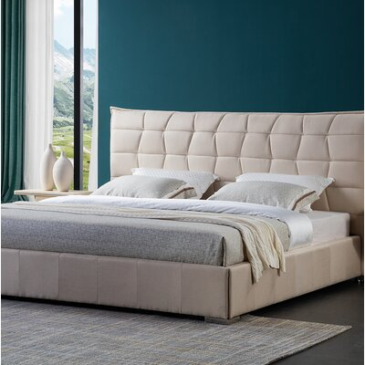 Fran Upholstered Bed Frame Size: Queen