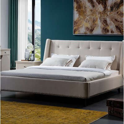 Cozart Upholstered Bed Frame Size: Queen