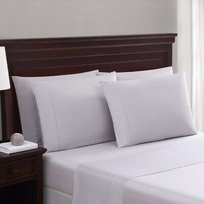 Daigneault 1400 Thread Count Percale 4 Piece Sheet Set Color: Lilac Hint Purple, Size: Queen