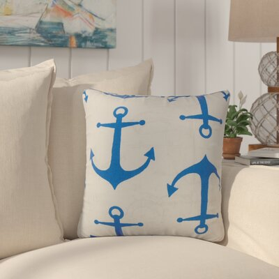 Callinan Coastal Throw Pillow Color: Blue