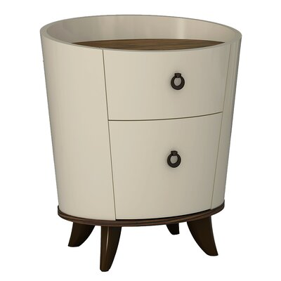 Forney 2 Drawer Nightstand