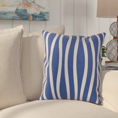 River Ridge Wavy Throw Pillow Size: 16 H x 16 W, Color: Dazzling Blue