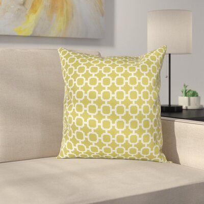 Burville Indoor/Outdoor Polyester Throw Pillow Color: Green/White