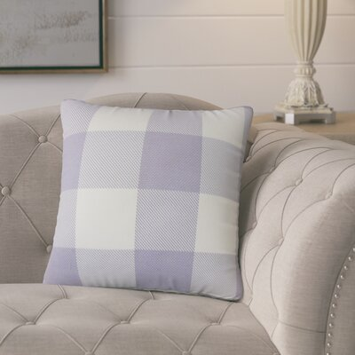 Pompa Plaid Cotton Throw Pillow Color: Purple