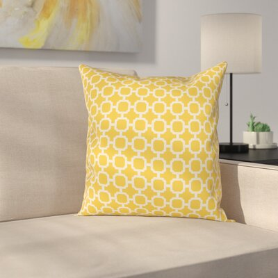 Burville Indoor/Outdoor Polyester Throw Pillow Color: Yellow/White