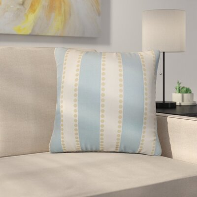 Rolston Stripes Cotton Throw Pillow Color: Sky Blue