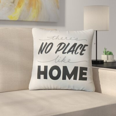 Rowlands Theres No Place Like Home Text Cotton Throw Pillow