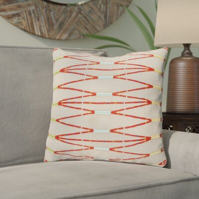 Chopra Cotton Throw Pillow Color: Brown/Orange