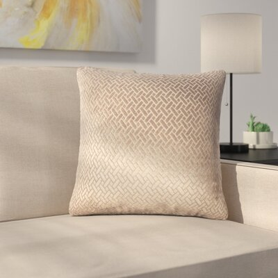 Stradford Solid Throw Pillow Color: Dark Brown