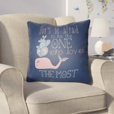 Collie Blue Square Throw Pillow Size: 20 H x 20 W x 4 D