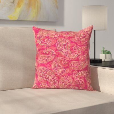 Crazy Paisley Throw Pillow Size: 18 x 18
