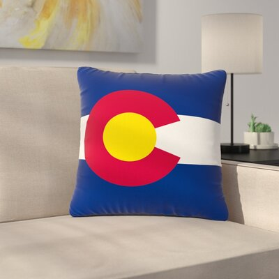 Bruce Stanfield Flag of Colorado II Outdoor Throw Pillow Size: 16 H x 16 W x 5 D