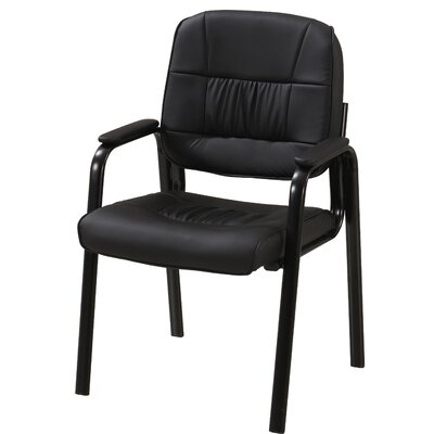 Vanwyk Padded Guest Chair Seat Color: Black