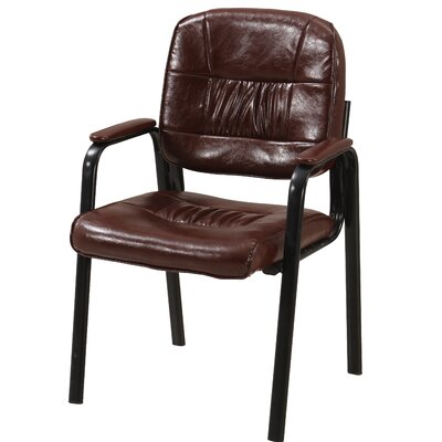 Vanwyk Padded Guest Chair Seat Color: Wine Red