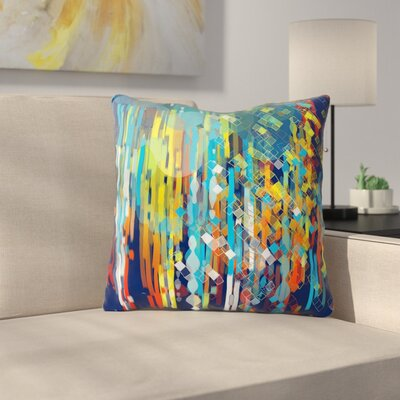 Color Fall by Frederic Levy-Hadida Throw Pillow Size: 16 H x 16 W x 3 D