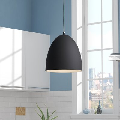 Utopia Round 1-Light Inverted Pendant Finish: Matte Black Outer/Matte Gold Inner