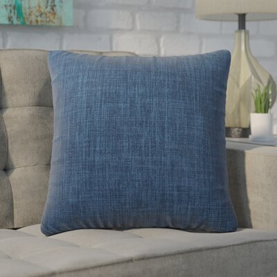 Cotter Linen Patterned Square Throw Pillow Color: Blue