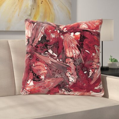 Birds of Prey Throw Pillow Size: 26 H x 26 W x 7 D, Color: Red / Black