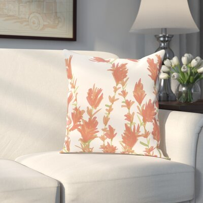 Orchard Lane Lavender Throw Pillow Size: 16 H x 16 W, Color: Coral
