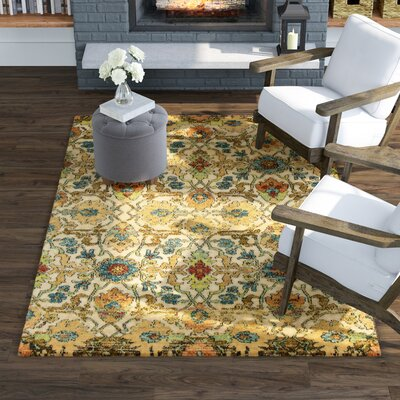 Sickles Sand Area Rug Rug Size: Rectangle 53 x 77