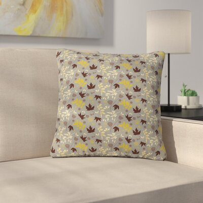Mayacoa Studio Fall Leaves Floral Outdoor Throw Pillow Size: 18 H x 18 W x 5 D