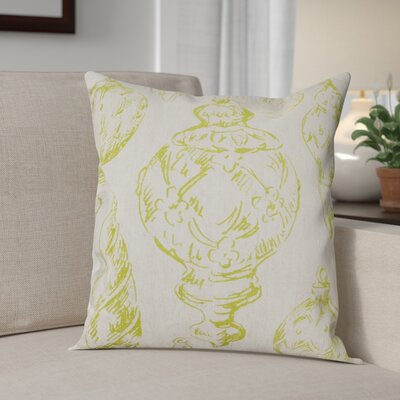 Ornaments Linen Throw Pillow Color: Chartreuse Green