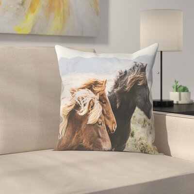 Luke Gram Eastern Region Iceland Throw Pillow Size: 16 x 16