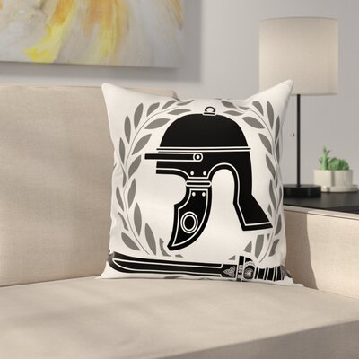Roman Empire Icons Square Cushion Pillow Cover Size: 24 x 24