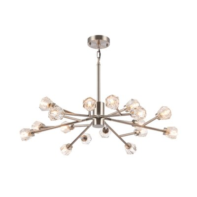 Kacey Frame Fixture 16-Light Sputnik Chandelier Finish: Nickel