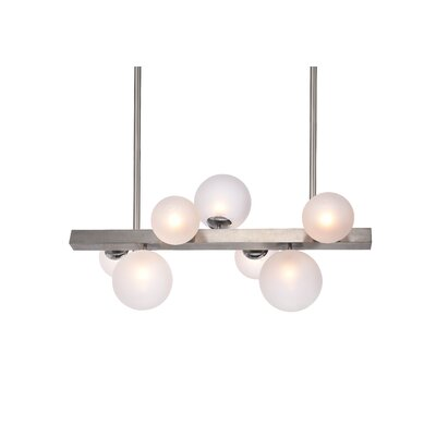 Lowrey Glass Globe 7-Light Kitchen Island Pendant