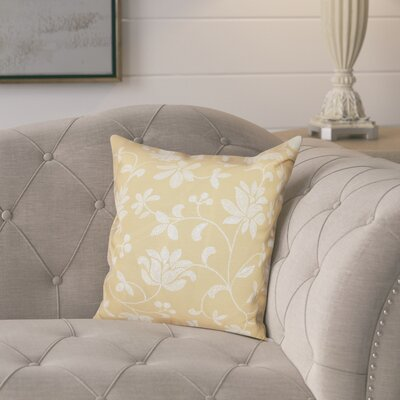 Cecilia Traditional Throw Pillow Size: 16 H x 16 W, Color: Gold