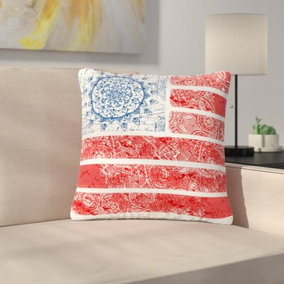 Victoria Krupp Americana Mandala Flag Holiday Outdoor Throw Pillow Size: 16 H x 16 W x 5 D