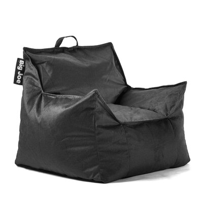 Big Joe Mitten Bean Bag Chair Upholstery: Black, Size: 20 H x 24 W x 24 D