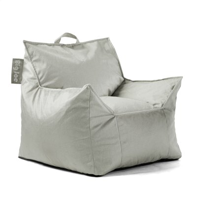 Big Joe Mitten Bean Bag Chair Upholstery: Fog, Size: 28 H x 34 W x 30 D