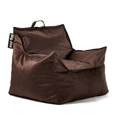 Big Joe Mitten Bean Bag Chair Upholstery: Cocoa, Size: 28 H x 34 W x 30 D