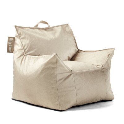 Big Joe Mitten Bean Bag Chair Upholstery: Oat, Size: 20 H x 24 W x 24 D