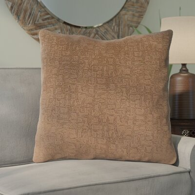 Tarsha Throw Pillow Color: Light Brown
