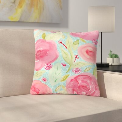 Li Zamperini Spring Floral Outdoor Throw Pillow Size: 18 H x 18 W x 5 D