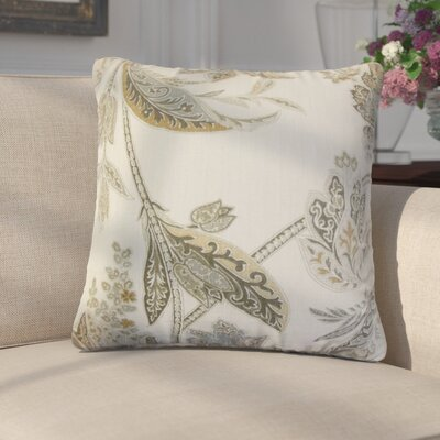 Marino Floral Linen Throw Pillow Color: Gray