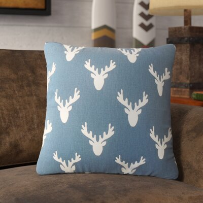 Altha Graphic Down Filled 100% Cotton Throw Pillow Size: 18 x 18, Color: Navy Twill