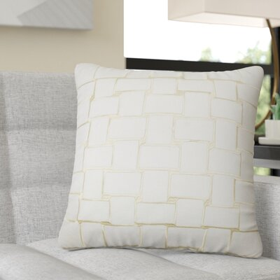 Reeve Geometric Throw Pillow Color: Buff