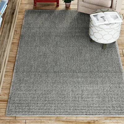 Paquerette Gray Area Rug Rug Size: 5 x 8