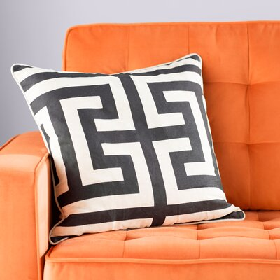Modern Throw Pillow Color: Black